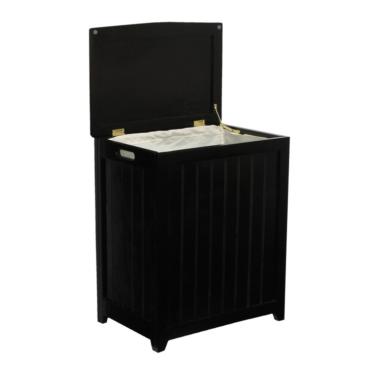 Black Laundry Hamper- wish it had a built in laundry basket for easy pick-up