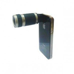 6x Optisk Zoom Linse med Monteringscover til iPhone 4