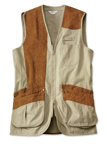 Mesh-backed Clays Vest, Sage, Large by Orvis. $149.00. We had Sandanona Shooting Grounds' shooting instructors help create our men's exceptional clay shooting vest, because they know that the details make a good vest great for the serious shooter. That's why this vest sports articulated shoulders for mounting ease, a mesh back for ventilation and comfort, divided pockets for live shells and hulls, a non-slip faux suede shoulder patch, and tab snaps for a towel or ear muffs. M...