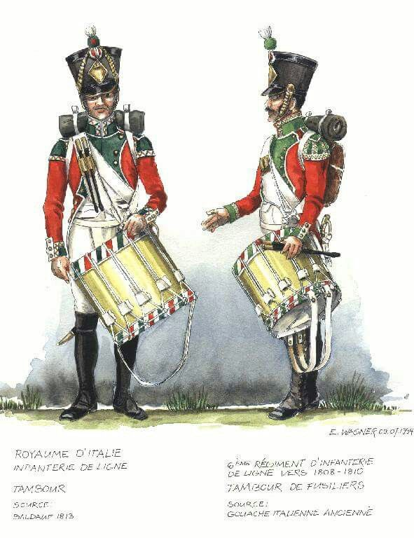 Italy; 6th Line Infantry, Fusilier Drummer, c.1808-10