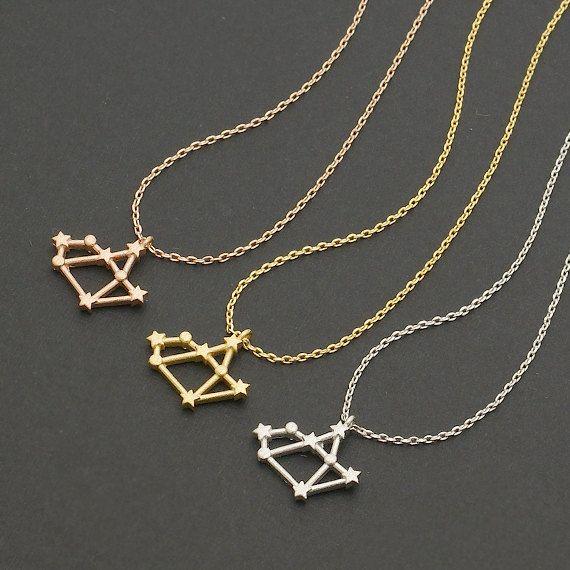 10pcs/lot Unique Sagittarius Astrology Necklace Sagittarius Necklace for Women November, December Birthday Christmas Gift
