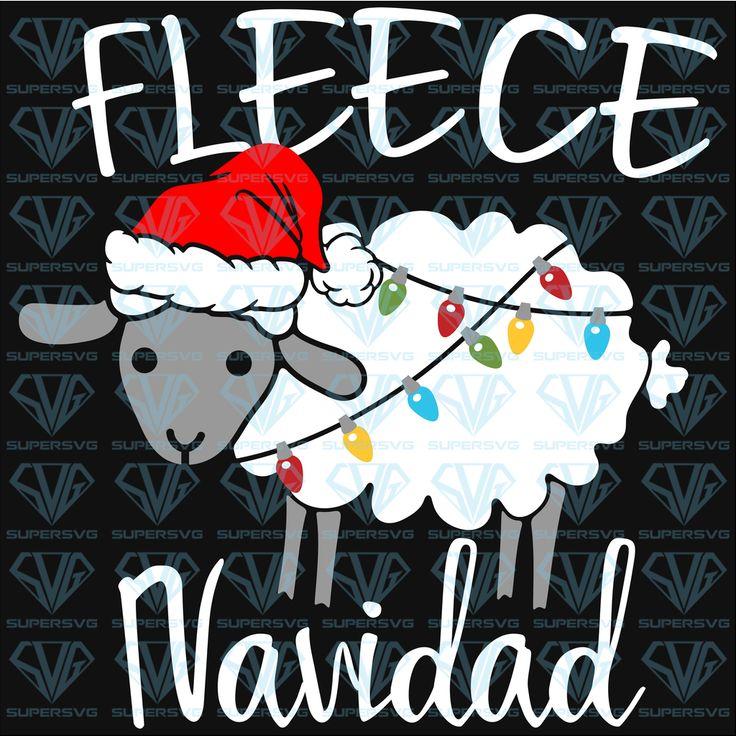 Fleece Navidad SVG Files For Silhouette, Files For Cricut