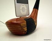 Vintage Wooden Golf Club iPod Dock ICN413 by rockapplewood. $50.00, via Etsy.