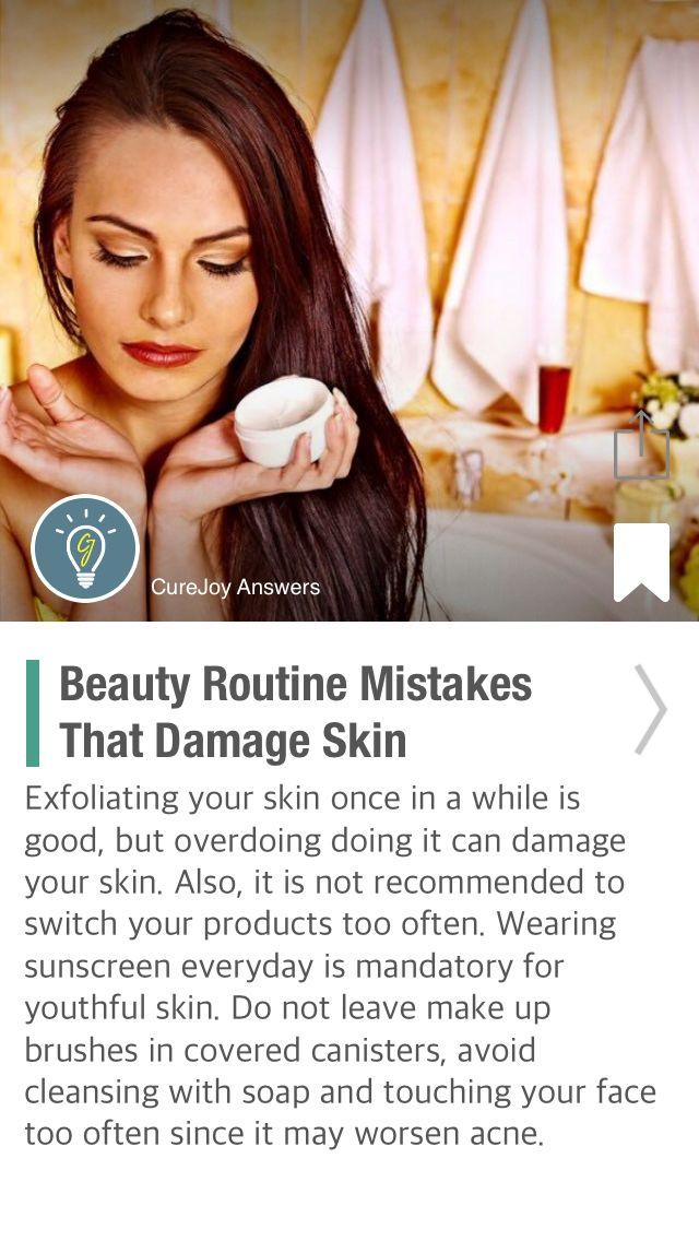 Beauty Routine Mistakes That Damage Skin - via @CureJoy