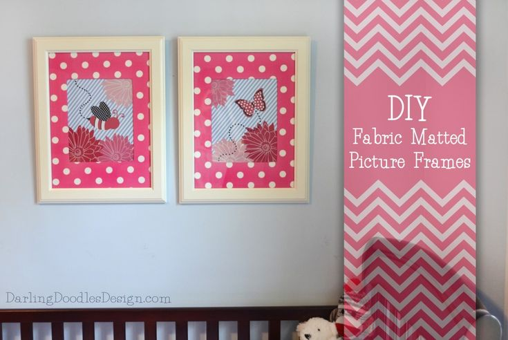 Diy fabric matted frames diy pinterest pictures for Diy fabric picture frame