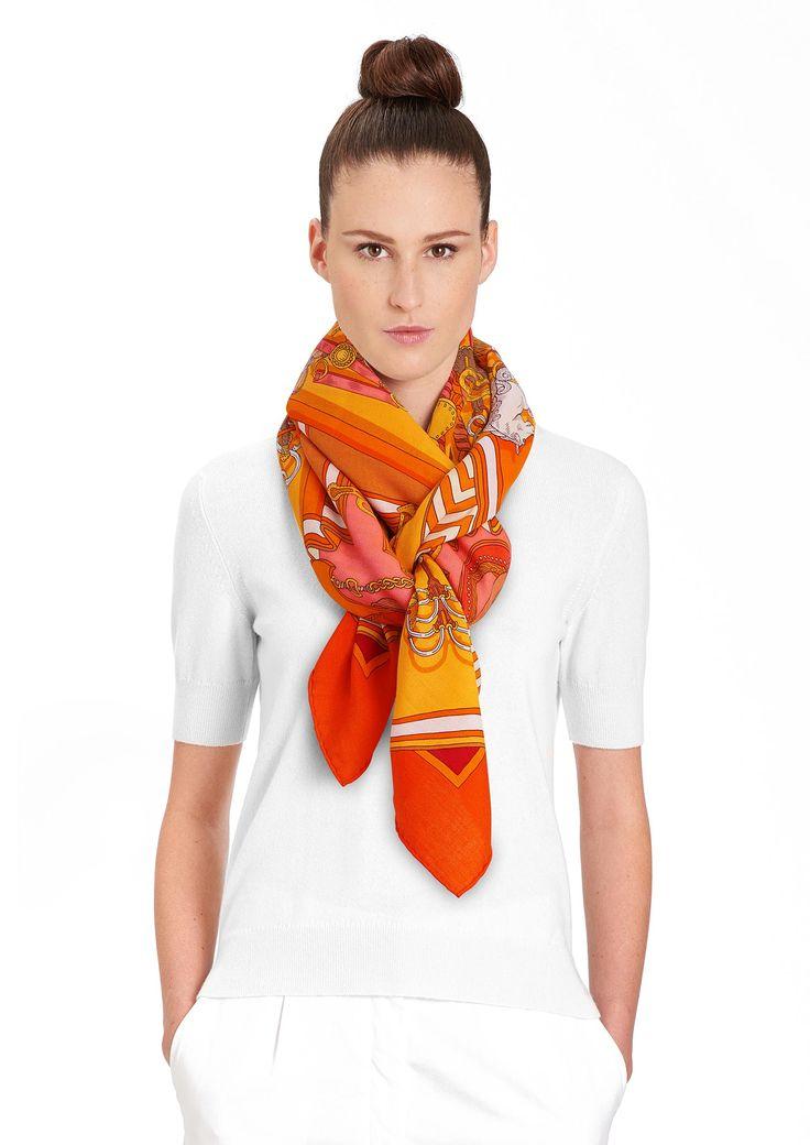 140 x 140 cm shawl Hermès | Bouquets Sellier