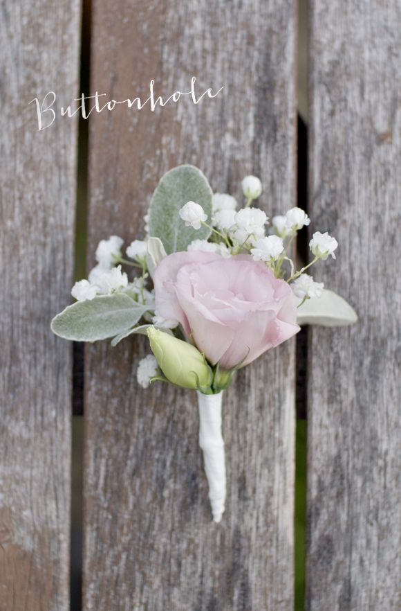 DIY bridal bouquet and buttonhole in white. pink, and green flowers.