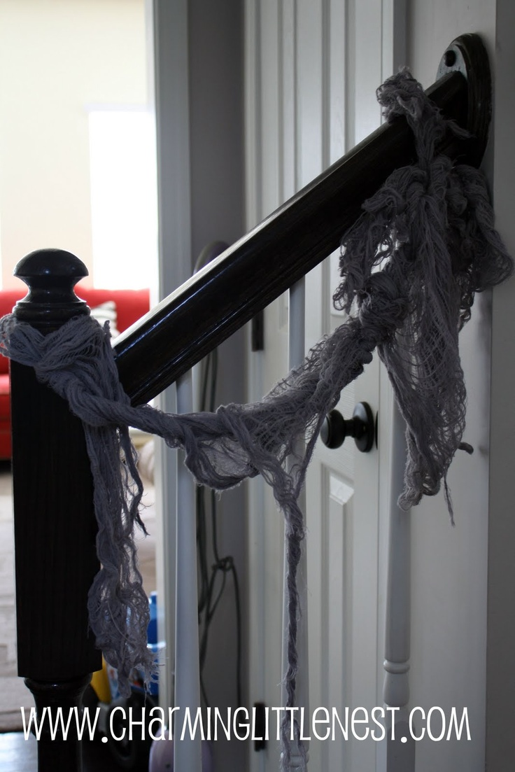 63 best halloween do it yourself projects images on pinterest halloween party decorating with black cheesecloth can be draped in so many places solutioingenieria Gallery