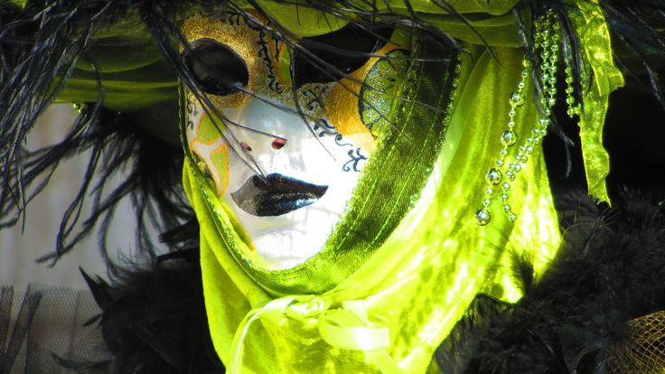 Masked woman in green.  More amazing masks on:  www.kookyphotogra...