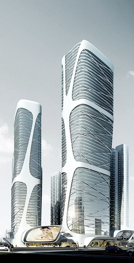 Foshan New City Mass Transit Center, Foshan, China by amphibianArc Architects :: competition entry