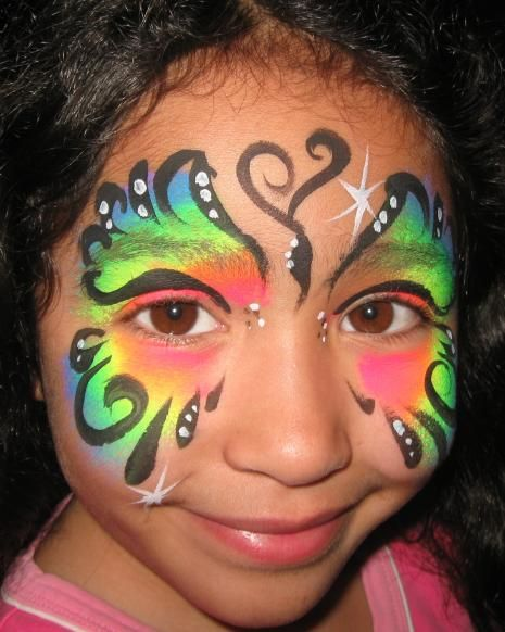 31 best images about facepaint on pinterest pink for Latest face painting designs