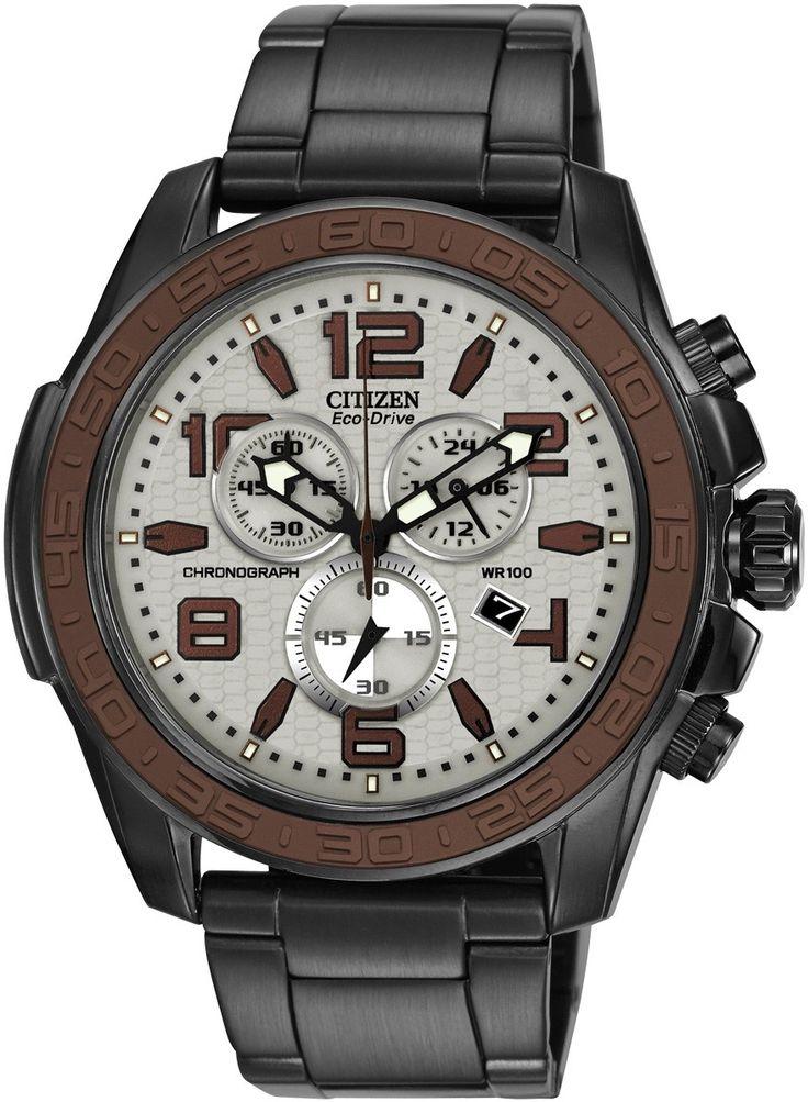 $295.00 Citizen Eco-Drive Men's Dark Grey Chronograph