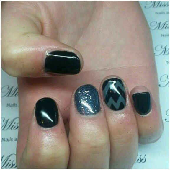 Chevron Nails by Miss Bliss Nails and Education Christchurch