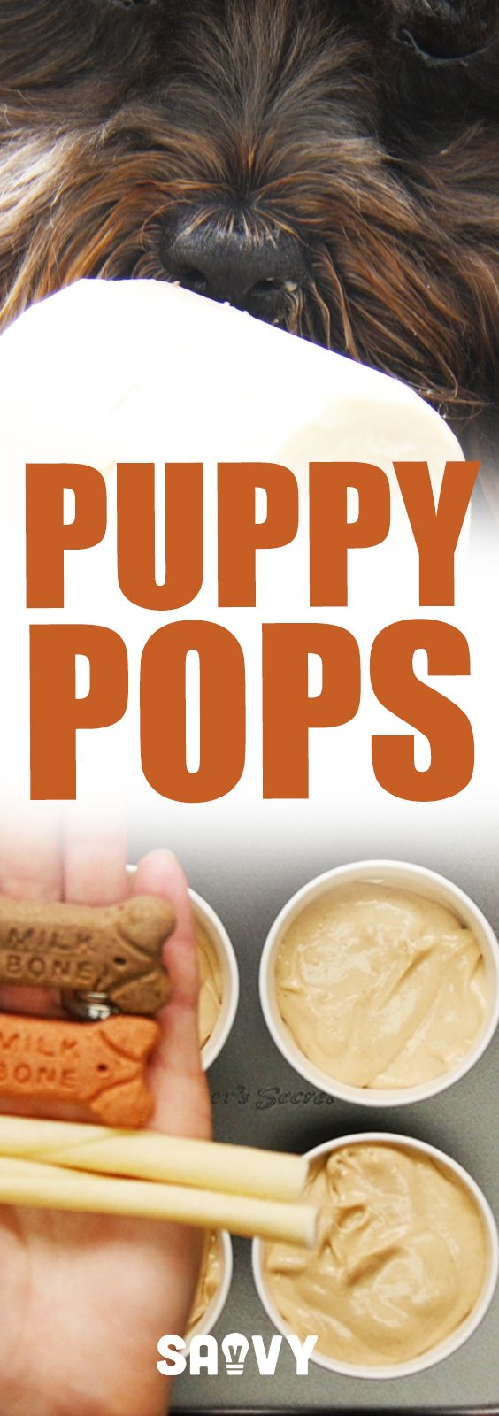 Pooches will go crazy for these puppy pops! Not only are they a delicious treat for your furry friends, but they help to keep your pup cool in the summer heat.  These are so easy to make that you can get your kids to help prepare them. If your dog has allergies to any of the ingredients, make sure to omit them or find alternatives.