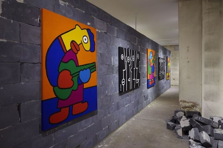 Inside the Thierry Noir 'Jazz' exhibition. (Photo: Howard Griffin Gallery)