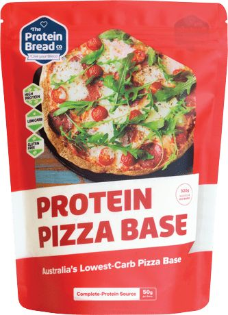 Keto Pizza I've made a ketopizza before, but this time I'm using a packed mix for the base instead of the mozzarella and almond flour base.I have to say, it turns out better than the normal keto pizza type base.  The Protein Bread Co The protein bread co have