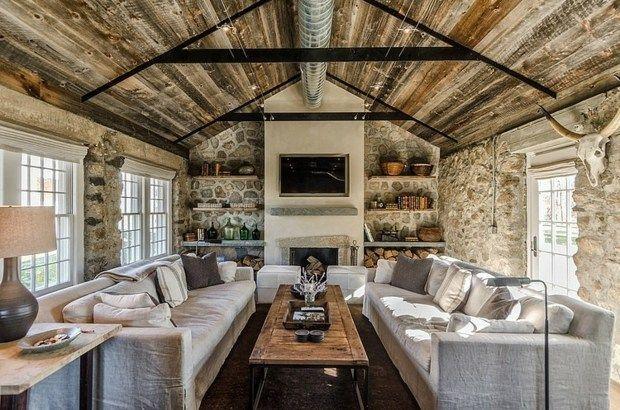 plafond de desugn rustique