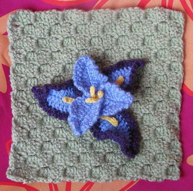 Crochet Iris Flower Pattern by Sandy Meeks ravelry.com