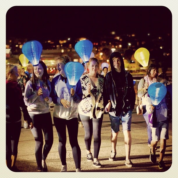Light the Night at Bondi for the Leukaemia Foundation #atbondi #bondi #lightthenight #sydney #lanterns #charity