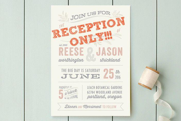 Post-Elopement Reception. Wording The Invitations