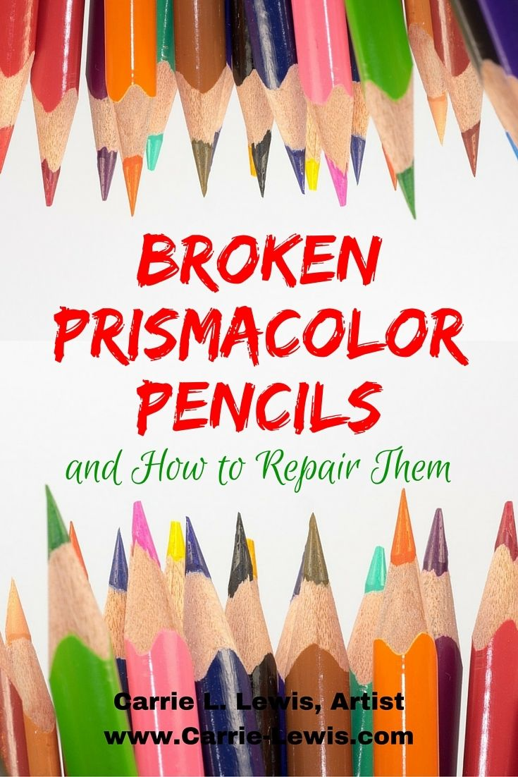 Broken Prismacolor pencils have you frustrated? You don't have to throw them away!.Carrie L. Lewis shares tips for repairing your broken pencils.