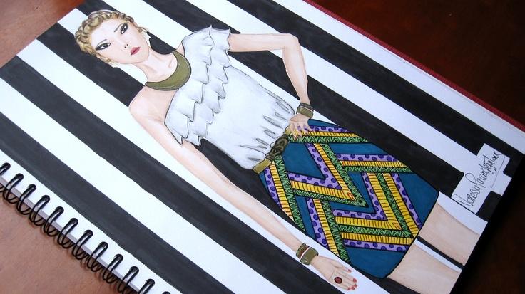 @singular_fad  sketch moda  #tribal #folk