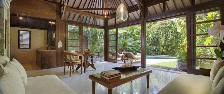 Villa 14 living room at Villa Kubu, Seminyak, Bali