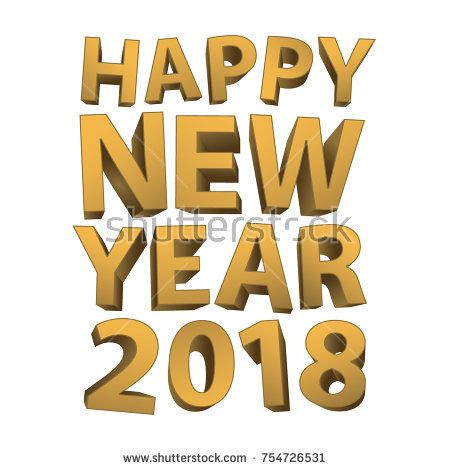 Happy new year 2018 Greeting Gold texture