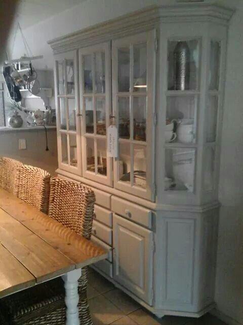 Winkelkast# buffetkast#servieskast landelijk gríjs wit