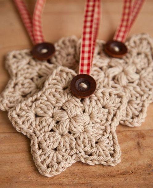 Manualidades de navidad crochet ganchillo pinterest - Adornos navidenos crochet ...
