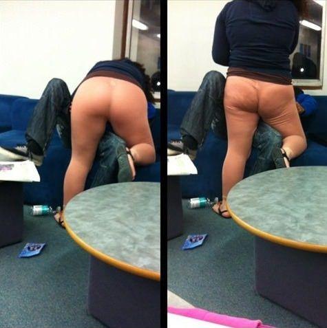 Flesh colored leggings are never appropriate