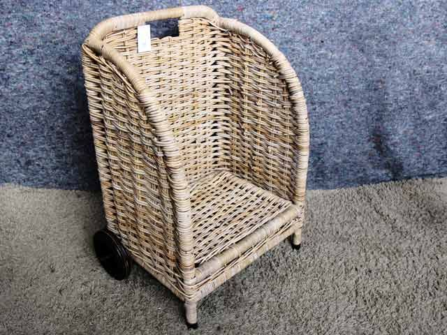 Lovalle Open Log Storage Basket On Wheels #logstore #wicker #basket #storage