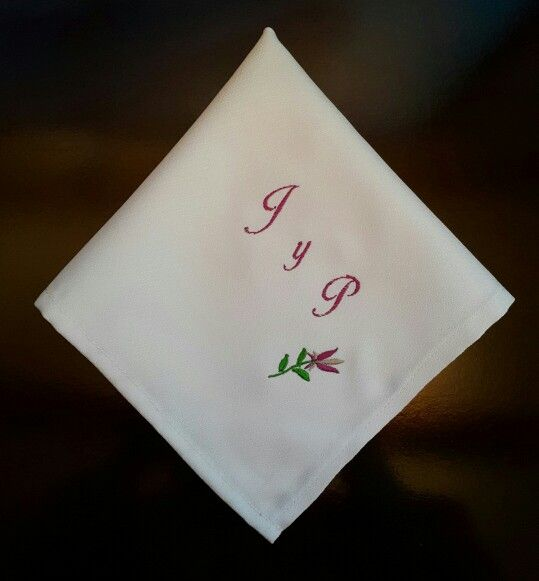 Servilleta de matrimonio #wedding #matrimonio #bordamor