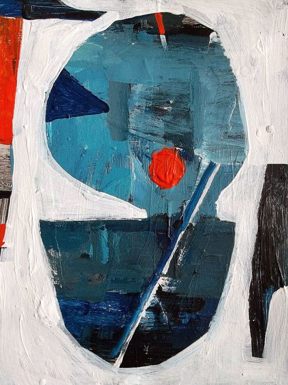 Abstract Blue And Orange Paintings