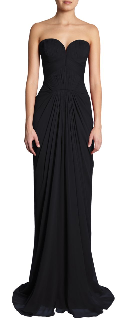 Can't beat black for elegant . The cut of this dress is great