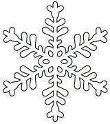Free printable snowflake templates to craft into easy paper snowflakes.