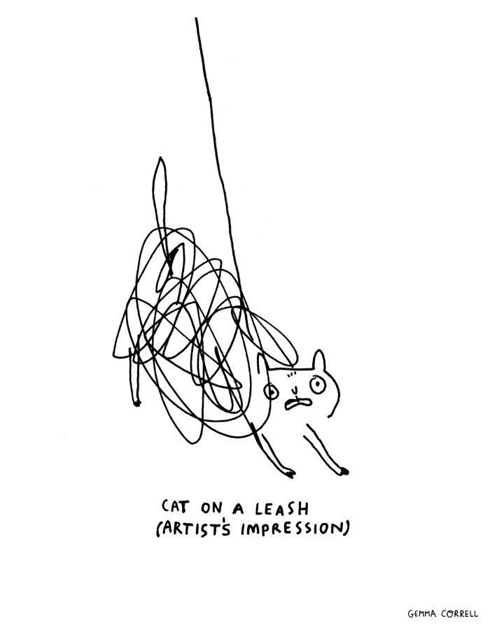 Cat On A Leash Gemma Correll