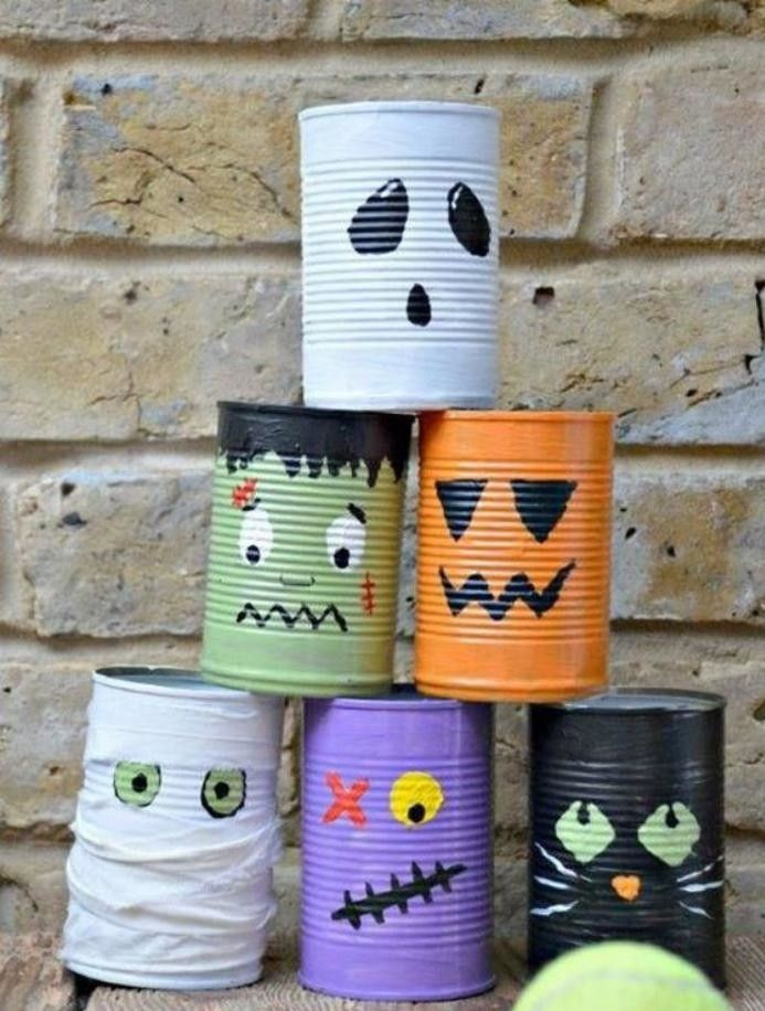 boîte de conserve, chouette décoration avec des boites de conserve
