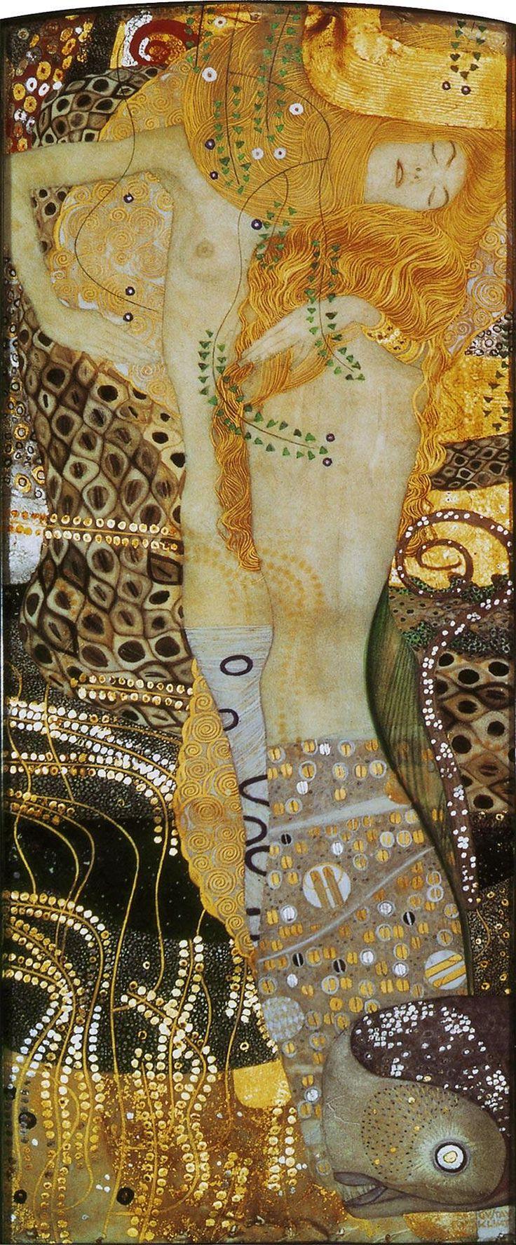 グスタフ・クリムト『水蛇Ⅰ』(1904-1907) Gustac Klimt - Wasserschlangen I #ウィーン分離派