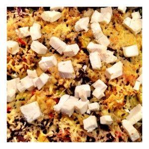 Rijstovenschotel met gehakt, prei en paprika