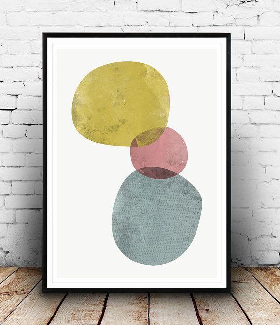 Acuarela grabado arte abstracto Acuarela abstracta por Wallzilla