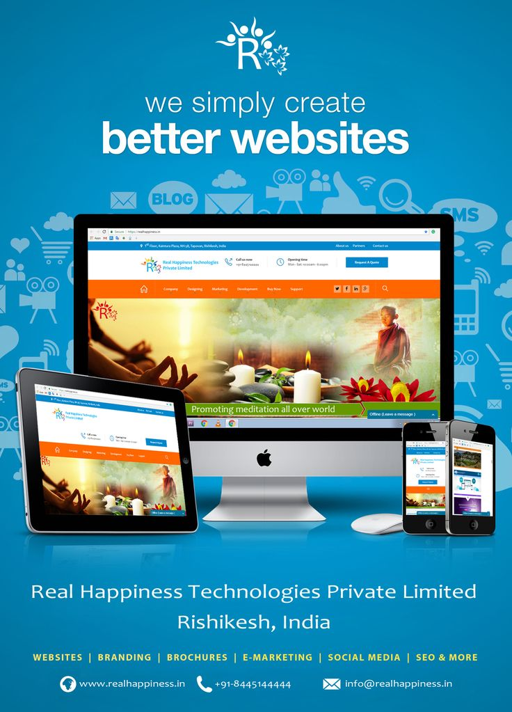 Get sales, leads and customers. Get a website that speaks your dreams. Get it Now: https://realhappiness.in/ Call Us: +91-844-51-44444 Email Us: info@realhappiness.in