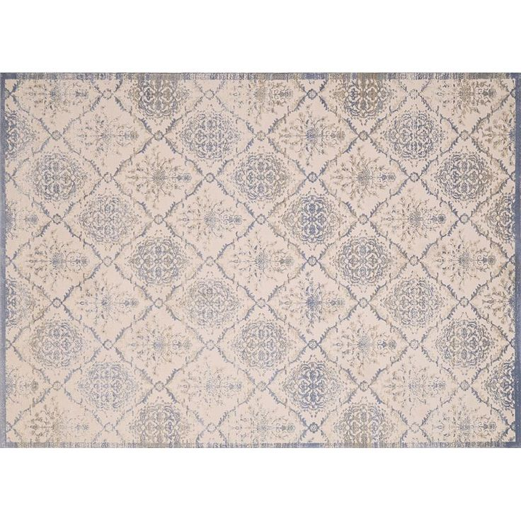 United Weavers Dais Elegant Trellis Rug, Light Blue