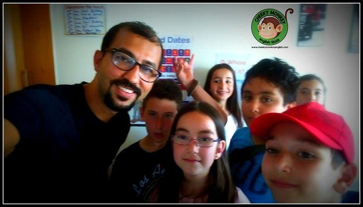 Selfie with my pupils...#CME4K Sadece çocuklar için İngilizce dil kursu İzmir