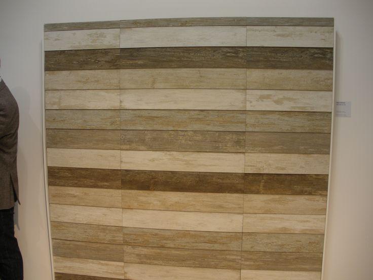 Verschillende kleuren verouderd hout, gezien op Cersaie 2013 en binnenkort in onze showroom (08) Tegelhuys