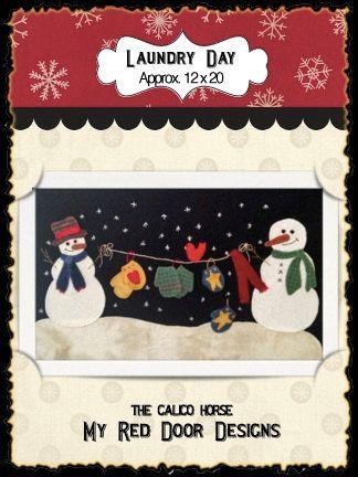 Laundry Day Wool Applique Kit by myreddoordesigns on Etsy, $34.99