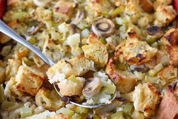 Sourdough Stuffing Recipe | Vegetarian Stuffing Recipe | Two Peas & Their Pod