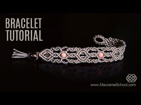 Macrame Double Wave Bracelet - Tutorial - YouTube                                                                                                                                                                                 Más