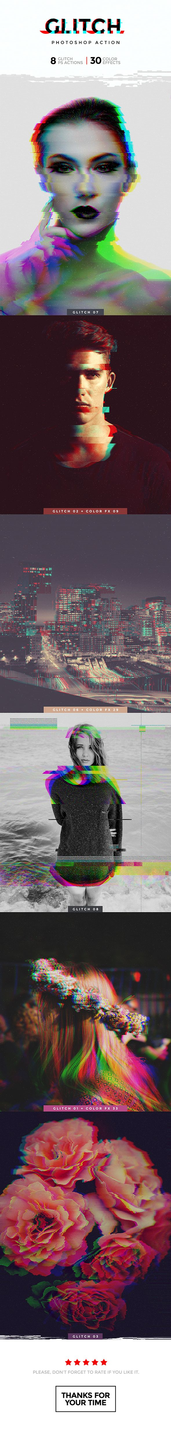 Glitch Photoshop Action — Photoshop ATN #music #pixels • Download ➝ https://graphicriver.net/item/glitch-photoshop-action/19144570?ref=pxcr
