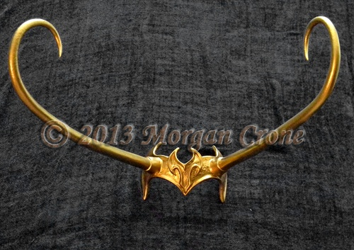 Lady Loki Style Gold Horned Diadem Headdress | morgancrone - Accessories on ArtFire